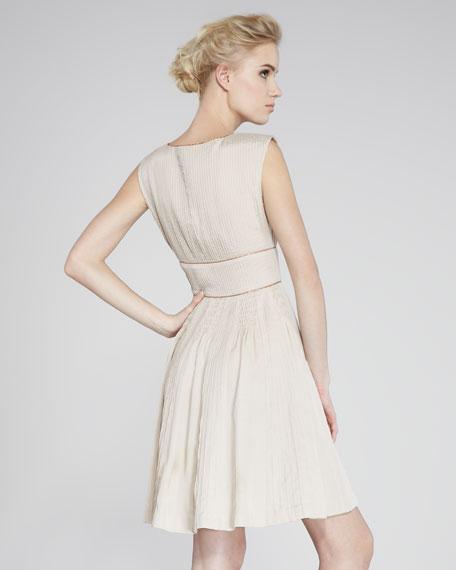 Sleeveless Pintuck Dress