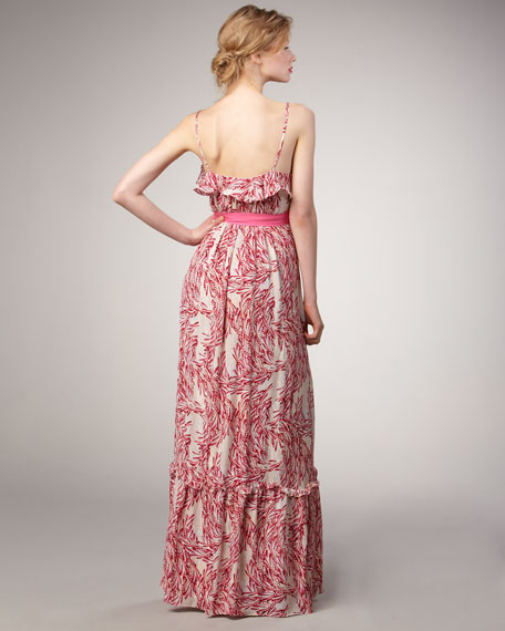Willow-Print Maxi Dress