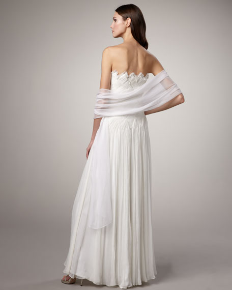 Basketwoven Gown & Stole
