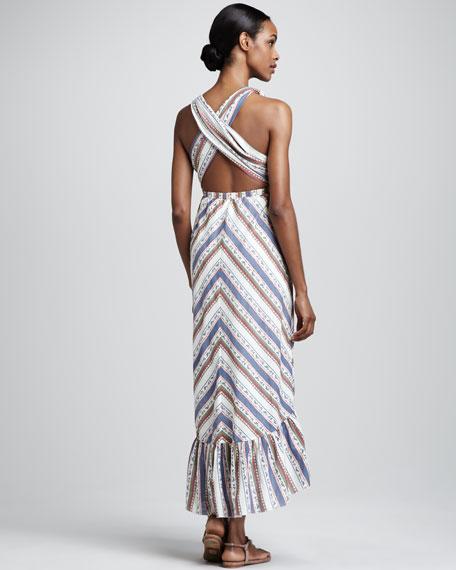 Carnivales Striped Maxi Dress