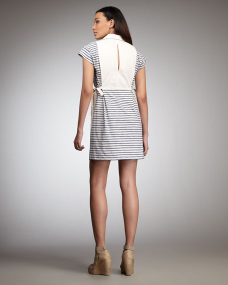 Mae Striped Jersey Dress