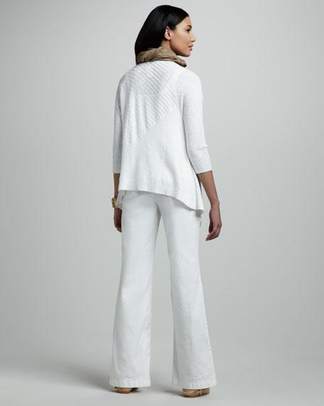 Angled Linen Cardigan, Women's