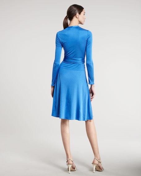 V-Neck Tie-Waist Dress
