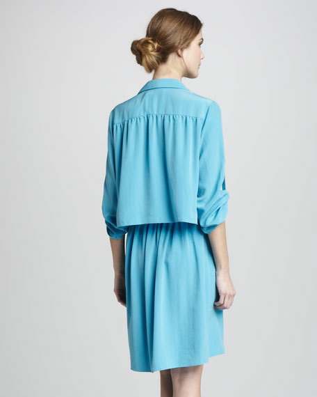 Ashley Half-Sleeve Shirtdress