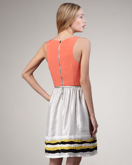 Cybil Two-Tone Dress