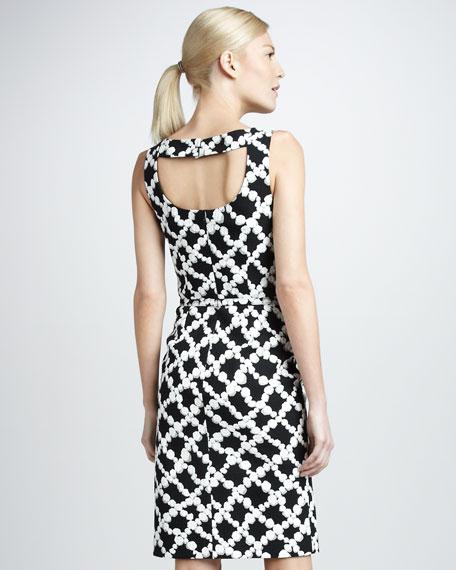 Pearl-Print Cotton Dress