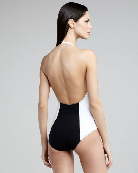 Dree Asymmetric Halter Swimsuit