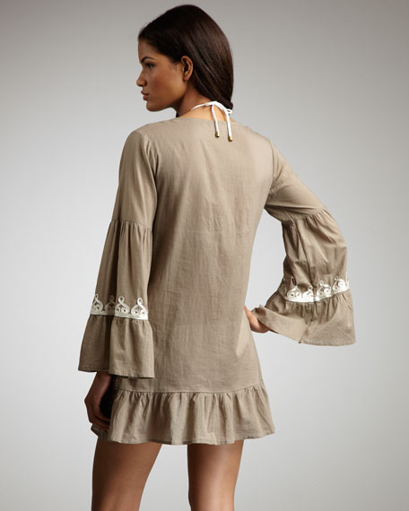 Sahara Embroidered Coverup, Camel