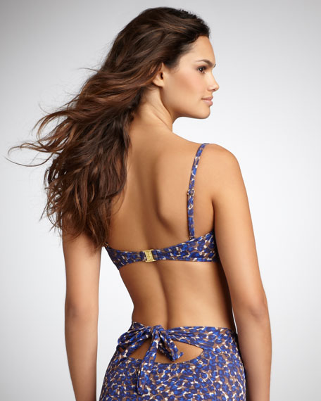 Animal-Print High-Waist Bikini