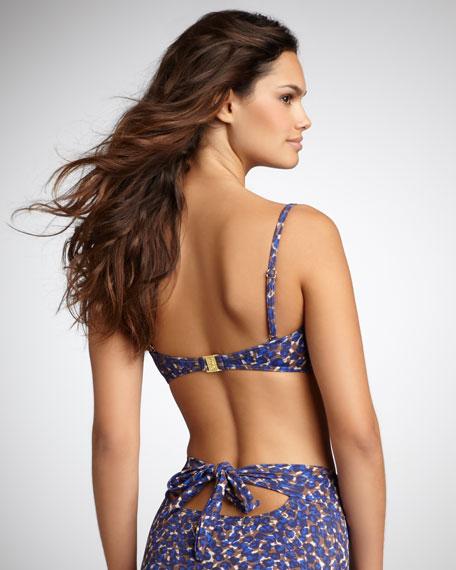 Animal-Print High-Waist Bikini