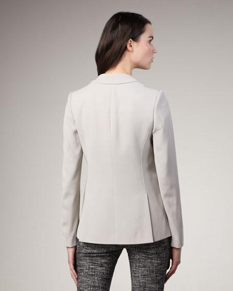 One-Button Crepe Blazer