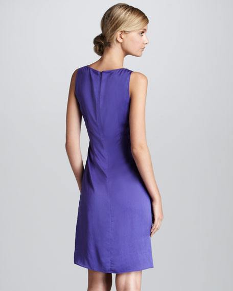 Satin Cowl-Neck Dress