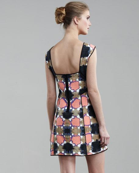 Gemma-Print Paneled Dress