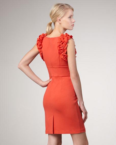 Mina Ruffled Ponte Dress