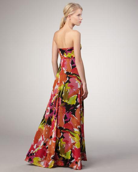 Lynde Bouquet-Print Maxi Dress