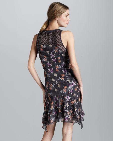Henley Floral-Print Dress
