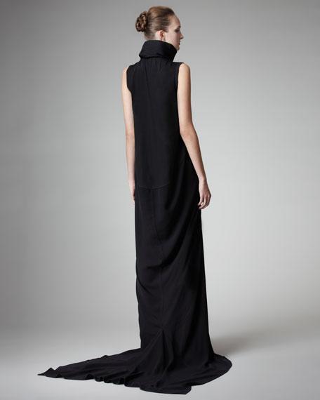 Mock-Neck Mermaid Gown