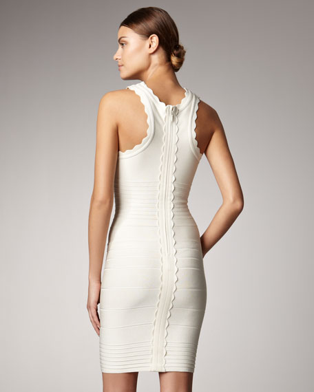 Scalloped Bandage Dress