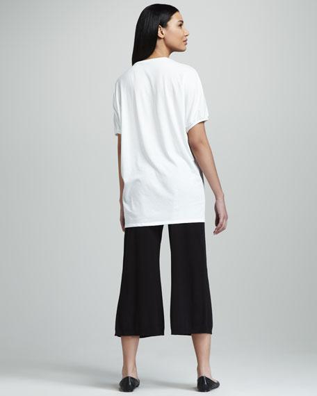 Cropped Wide-Leg Pants, Petite