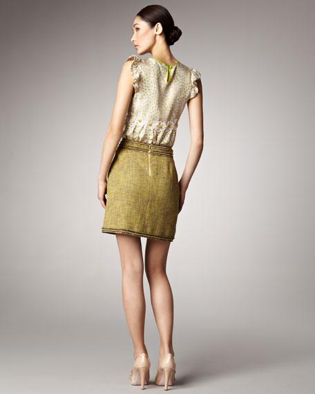 Fringed Tweed Skirt