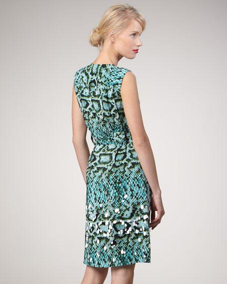 Charm Me Snake-Print Dress