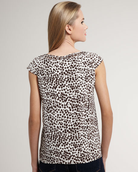 whitney printed top