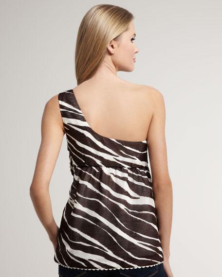 kay zebra-print top