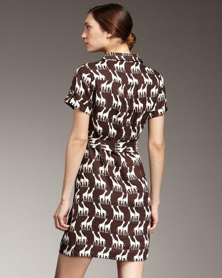 dana giraffe-print dress