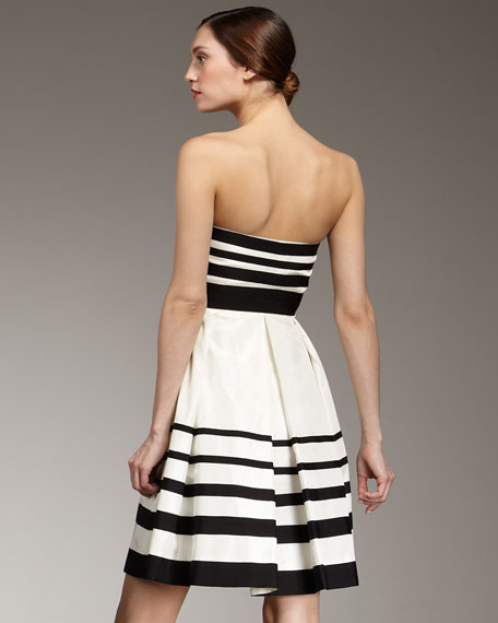 mirabelle strapless striped dress