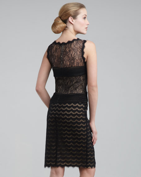 Mixed-Lace Dress