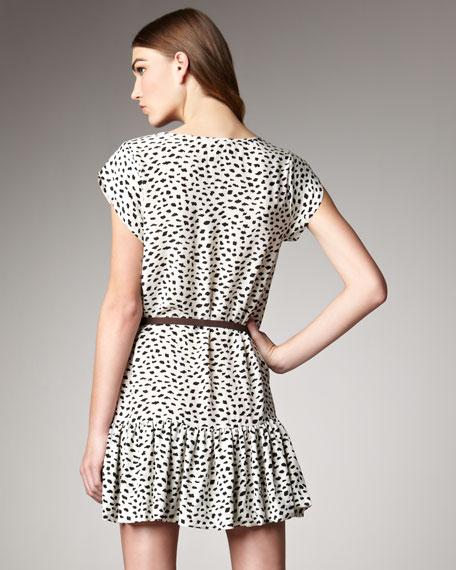 Balinda Dot-Print Dress