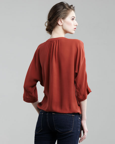 Marru Pleated-Front Blouse