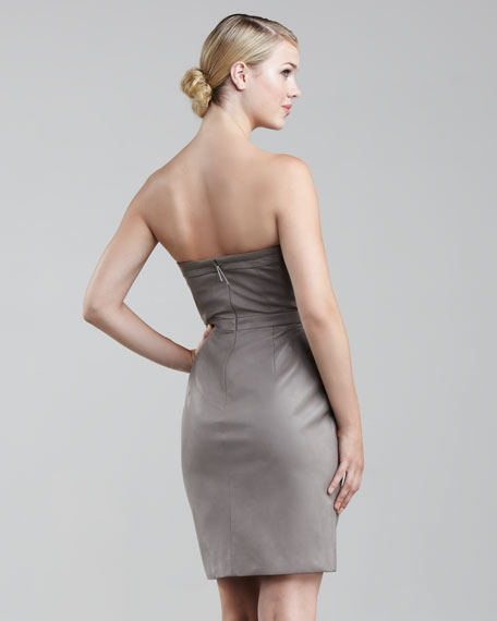 Sweetheart Strapless Lambskin Dress