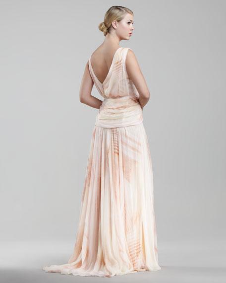 Mousseline Asymmetric Gown
