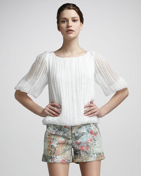 Cady Floral-Print Cuffed Shorts