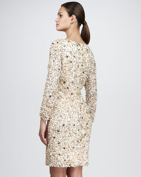 Sequined Cocktail Dress, Women's