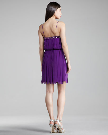 Bead-Trim Carwash Dress