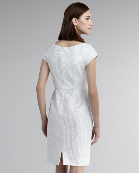 Cap-Sleeve Pique Dress