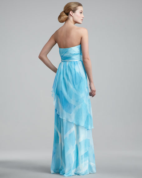 Strapless Tiered Gown