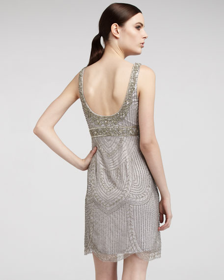 Beaded Empire-Waist Dress