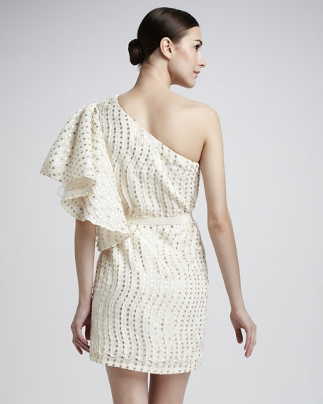 One-Sleeve Sequin Dress