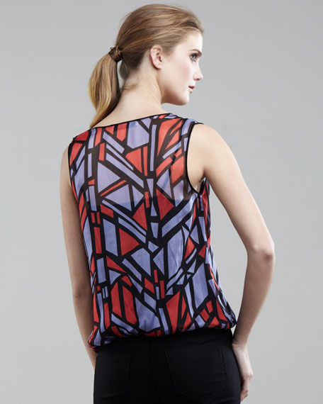 Stain-Glass Silk Top