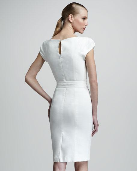 Haley Sheath Dress, Ivory