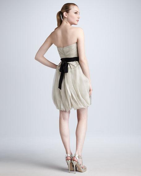 Tulip-Skirt Organza Dress