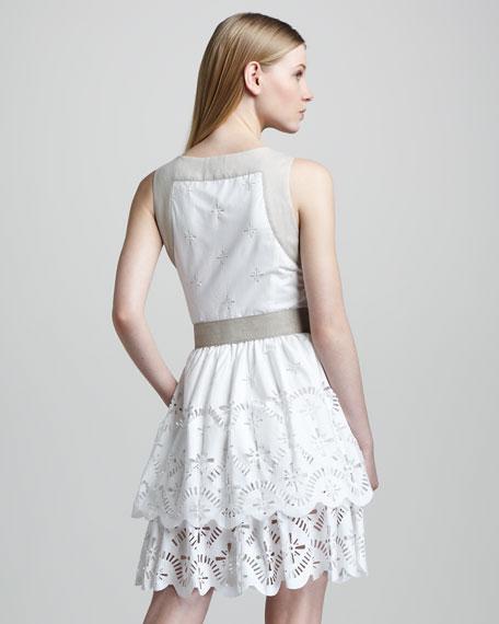 Sleeveless Eyelet Dress