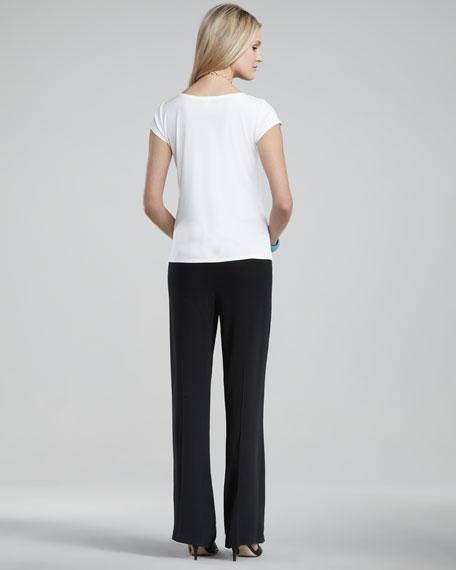 Silk-Georgette Pants, Petite