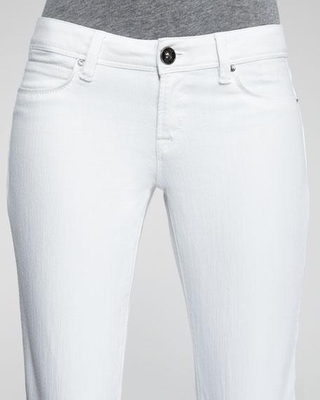 Cindy Milk Slim Boot-Cut Jeans