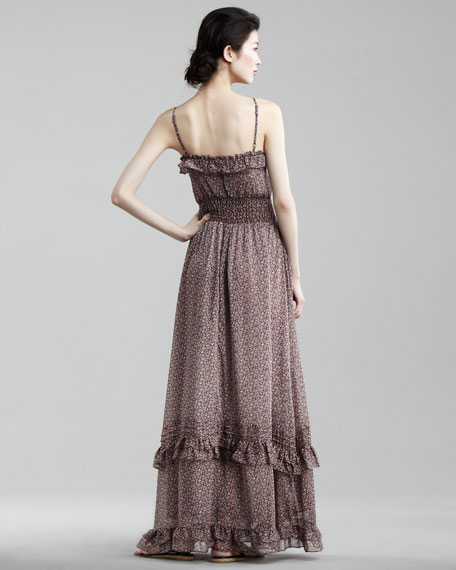 St. Tropez Ruffled Maxi Dress