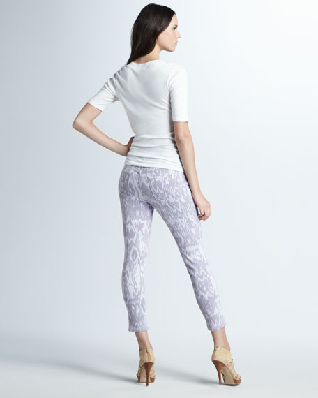The High Water Iris Ikat-Print Jeans
