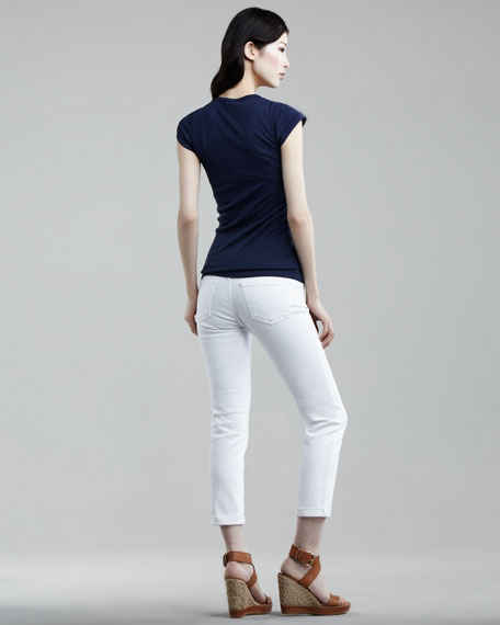 Stilt Optic White Roll-Up Cigarette Jeans